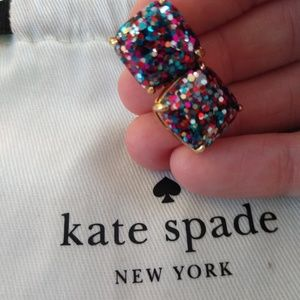 Kate Spade druzy earrings multi colored